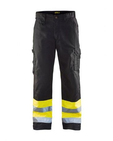 Blaklader 1564 High Visibility Trouser (Black/Yellow)